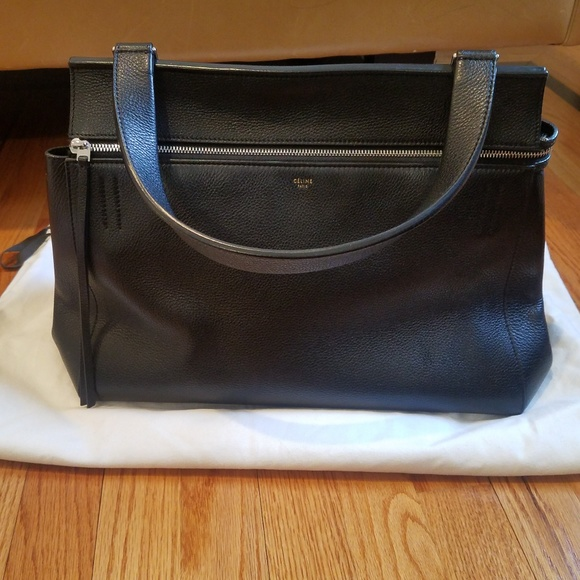 Celine Handbags - Celine Supple Calfskin Edge Bag in Black